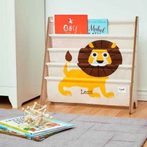 Toddler Gifts Canada-3 Sprouts Book Rack – Lion