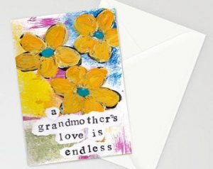 Grandma Gifts Canada-A Grandmother's Love 5x7 Blank Condolence-Sympathy Card with Envelope