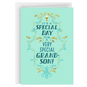 Hallmark Canada First Communion Gifts-A Special Day for a Special Boy First Communion Card for Grandson