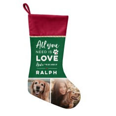 custom Christmas stockings Canada-All You Need Is Love Christmas Stocking