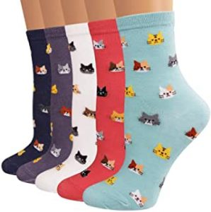Cool Christmas Gifts Canada-Ambielly Cute Animal Design Women's Casual Comfortable Cotton Crew Socks
