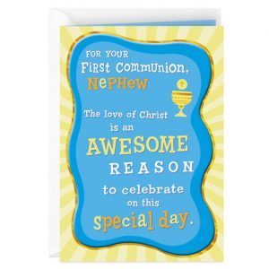 Hallmark Canada First Communion Gifts-An Awesome Reason First Communion Card for Nephew