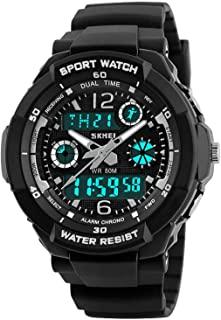 Analog Digital LED Waterproof Watch