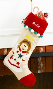 custom Christmas stockings Canada-Angel Personalized Christmas Stocking
