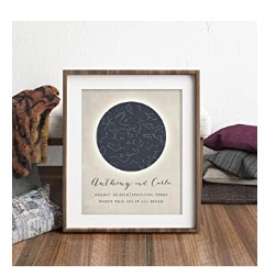 Arvier Unique Wedding Gift for Couple Constellation Map