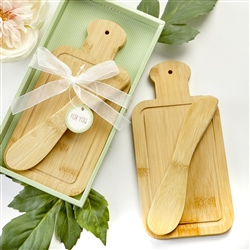 Bamboo Wood Cheese and Spreader