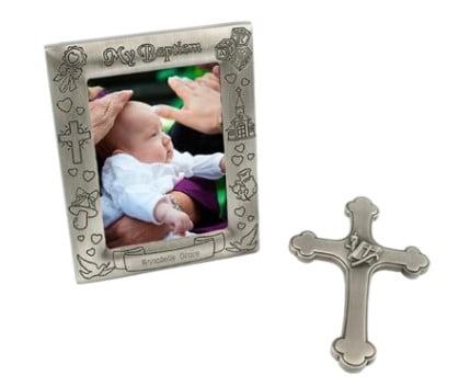Baptism Frame and Cross – 2 piece Gift Set