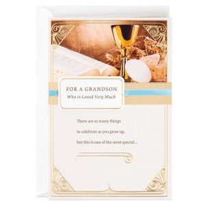Hallmark Canada First Communion Gifts-Blessings for You Religious First Communion Card for Grandson