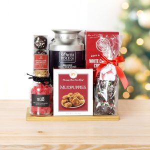 Cool Christmas Gifts Canada-CHRISTMAS HOT CHOCOLATE & TREATS BASKET