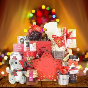 Cool Christmas Gifts Canada-CHRISTMAS SLED GIFT BASKET