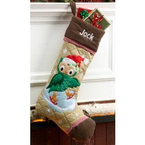 custom christmas stockings canada-Cabin Series Christmas Stocking_ Owl