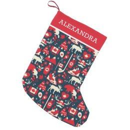 custom Christmas stockings Canada-Canada Canadian Christmas Winter Personalized Small Christmas Stocking