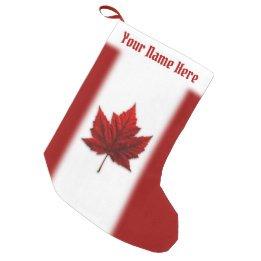 custom Christmas stockings Canada-Canada Stocking Canada Flag Christmas Stockings