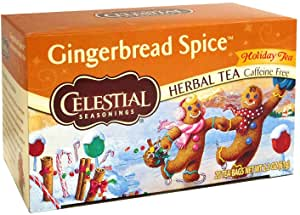 Cool Christmas Gifts Canada-Celestial Seasonings Gingerbread Spice Holiday Tea, 20 Tea Bags per box, 1 box
