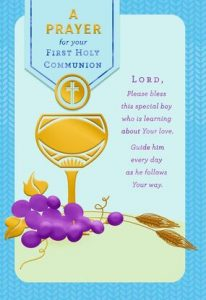 Hallmark Canada First Communion Gifts-Chalice With Grapes and Wheat Stalks First Communion Card for Boy