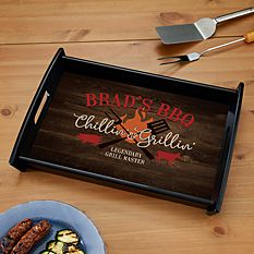 First Father's Day Gifts Canada-Chillin' Grillin' Serving Tray