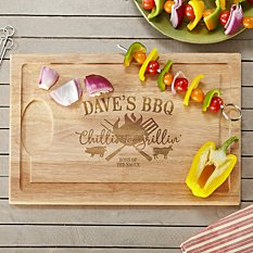 Chillin & Grillin Wood Cutting Board