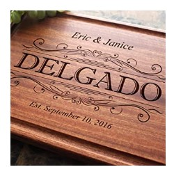 Classic Swirl Personalized Engraved Cutting Board - unique wedding gifts canada