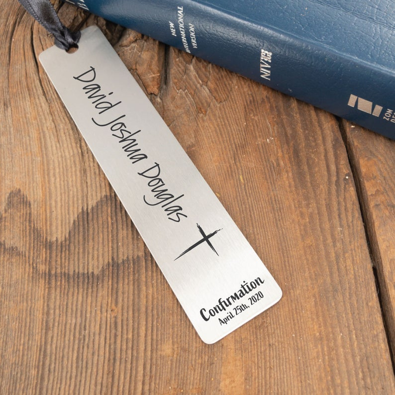 Confirmation Personalized Bookmark Gift