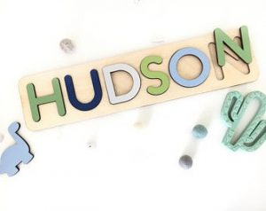 Toddler Gifts Canada-Custom Name Puzzle Montessori Toddler Educational Toys