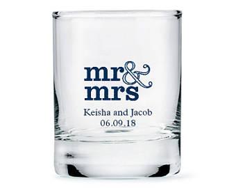 Custom Wedding Shot Glasses