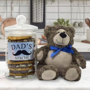 First Father's Day Gifts Canada-DAD'S COOKIE STACHE FATHER'S DAY GIFT BASKET