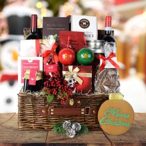 Cool Christmas Gifts Canada-DECADENT CHRISTMAS TREATS & WINE SET