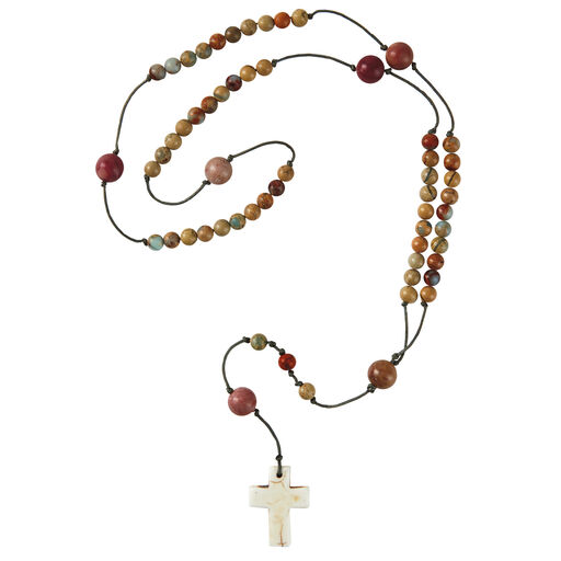 Earth Tones Ceramic Rosary