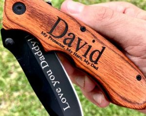 First Father's Day Gifts Canada - Engraved Pocket Knife for Dad