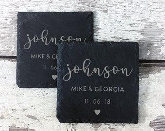 Engraved Slate Coasters