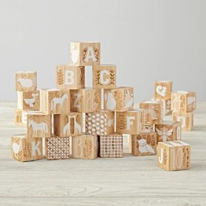 Toddler Gifts Canada-Etched Wooden Blocks