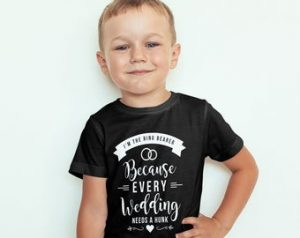 Ring Bearer Gifts Canada-Every Wedding Needs a Hunk Ring Bearer Proposal T-Shirt
