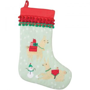 Cool Christmas Gifts Canada-Fa La La La Llama Stocking