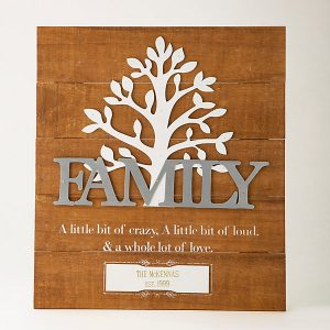 Grandma Gifts Canada-Family Tree Pinewood Wall Art