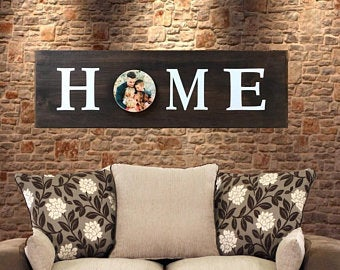 Farmhouse Décor/Wood Photo Sign