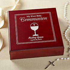 First Communion Gifts Boy Canada-First Communion Wood Keepsake Box