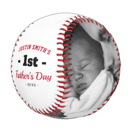 First Father's Day Gifts Canada-First Happy Father's Day Photo Baseball