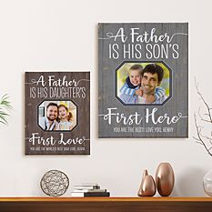 First Father's Day Gifts Canada-First Memories Photo Canvas
