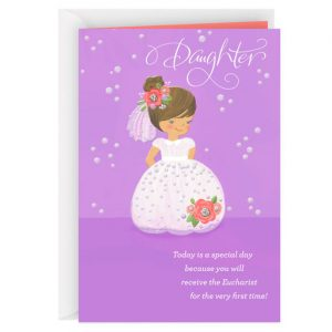 Hallmark Canada First Communion Gifts-Full of Love for You First Communion Card for Daughter