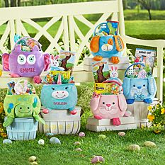 Personalized Easter Baskets Canada-Furry Friends Easter Basket