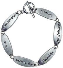 Gifts of the Spirit Pewter Link Bracelet