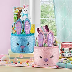 Personalized Easter Baskets Canada-Glitter Bunny Basket