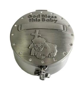 God Bless Baby Lamb Trinket Box