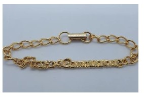 Gold-Tone First Communion Bracelet