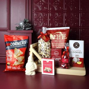 Cool Christmas Gifts Canada-Holiday Snacking Sleigh Gift Basket