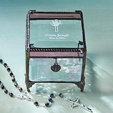 Holy Confirmation Glass Keepsake Box