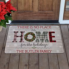 Cool Christmas Gifts Canada-Home for the Holidays Doormat