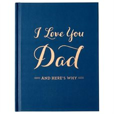First Father's Day Gifts Canada-I LOVE YOU DAD JOURNAL