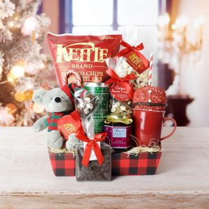 Cool Christmas Gifts Canada-IT'S CHRISTMASTIME SNACKING BASKET