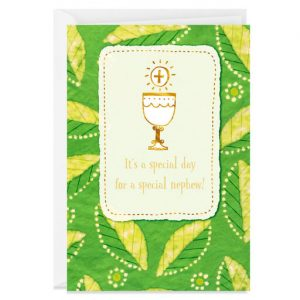 Hallmark Canada First Communion Gifts-It's a Special Day First Communion Card for Nephew
